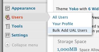 Bulk Add UAL Users